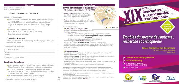 XIX Rencontres internationales d'Orthophonie